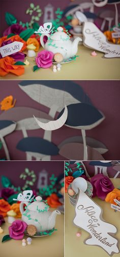{papercut} Alice in Wonderland - Tales & Stories with papercut and food ( working with pointropnenfaut )