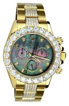 Rolex Daytona 16528 18K Yellow Gold Diamonds Dial & Oyster Bracelet 40mm Watch