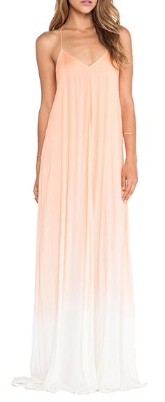 Young, Fabulous  Broke Fortune Maxi Ombre Dress in Melon