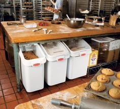 Bakery bins! Flour, sugar, etc.