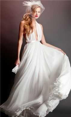 Errico Maria 2013 Bridal Collection - Belle The Magazine Backless Prom Dresses, Blue Bridesmaid Dresses, Bridal Dresses, Blue Dresses, Dream Wedding Dresses, Wedding Gowns, Wedding Blog, Evening Dresses Plus Size, Sophisticated Bride