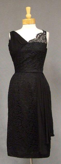 Lace & Chiffon 1950's Cocktail Dress