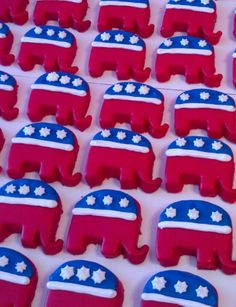 Republican Cookies- I don't care that these are about a political party, they just look REALLY good