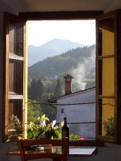 A view from a bedroom window at Casa Fontana, Barga, Italy, in Tuscany. Portal, Under The Tuscan Sun, Window View, Through The Window, Grand Hotel, Adventure Is Out There, Oh The Places You'll Go, Nice View, Countryside