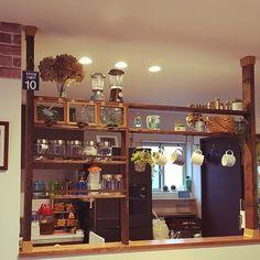 女性で、3LDKのキッチン/カフェ風/フェイクグリーン/DIY/ディアウォール/リメ缶…などについてのインテリア実例を紹介。(この写真は 2015-12-21 12:57:11 に共有されました)
