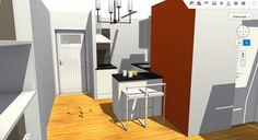 Vista a cocina y entrada desde salón, II.