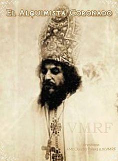 12 de Mayo La Ordenación de Alquimista Coronado a Monseñor Páleka o.m., Arzobispo mariavita, en Cripta de la Transfiguración Padre de los Cielos, en La Casa. #VMRF 1987