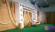 Engagement Decorations, Stage Decorations, Indian Wedding Decorations, Festival Decorations, Indian Weddings, Flower Decorations, Steel Gate Design, Function Hall, Wedding Stage Design