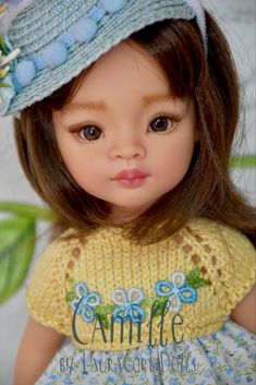 "OOAK Paola Reina Camille 13""- 33cm vinile bambola ridipinta da LauraCortiDolls"