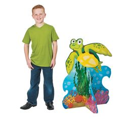 3D+Under+the+Sea+Turtle+Cardboard++Stand-Up+-+OrientalTrading.com