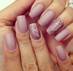 Cool nails, Everyday nails, Fall nails 2016, Matte nails, Matte nails with glossy pattern, November nails, Office nails, Pastel nails