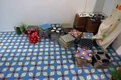 Petit Pan Carocim encaustic tiles.  www.carocim.com  Exhibition Maison & Objet, January 2013