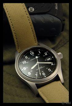 Hamilton Khaki Field Mechanical Officer Black Dial