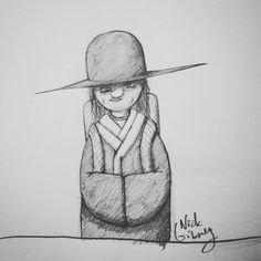 Possible character design sketch for untitled comic book project by Nick Gibney