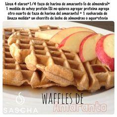 waffles saludables. Receta: Sascha Barboza #Nutrición y #Salud YG > nutricionysaludyg.com