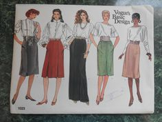 Vogue Basic Design Sewing Pattern 1023 - Size 12-14-16 Skirts by WeBGlass on Etsy
