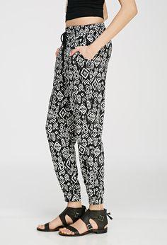 Southwestern Print Drawstring Pants - Trousers - Forever 21 UK