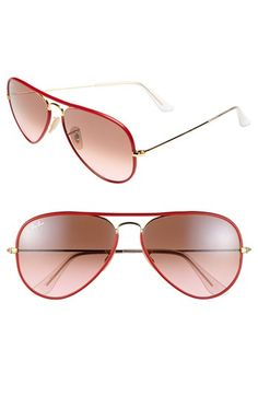 Ray-Ban Aviator 58mm Sunglasses available at #Nordstrom  The Pink Frock | Private Client Styling and Personal Shopping Firm | Valentine Gifts