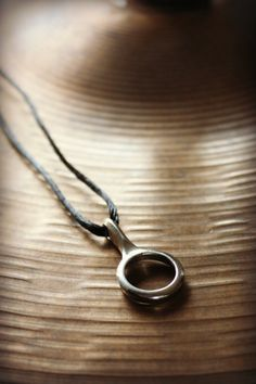 Recycled Clarinet Key Silver Circle Pendant by UpBeatAccents, $22.00