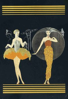 Art Deco and Art Nouveau! Arte Art Deco, Art Deco Artists, Estilo Art Deco, Art And Illustration, Art Nouveau, Erte Art, Illustrator, Street Art, Inspiration Art
