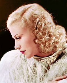 Todays hair and makeup inspiration Ginger Rogers