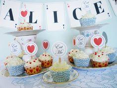 Alice in Wonderland DiY birthday party printable PDF kit - For Alice's 1st birthday??