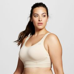 f98e410a9966b Women s Plus Size Power Core Compression Max High Support Sports Bra - Soft  Taupe 2X -