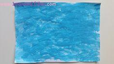 1maman2filles activité peinture avec une tige de yucca