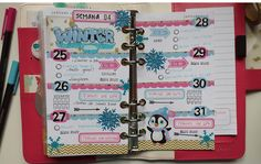 Decoración agenda Webster's Pages: Semana 04/2016