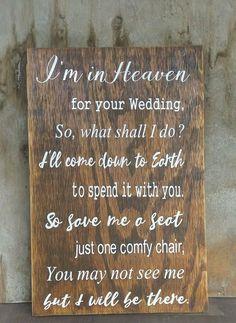 Wedding Reception Wedding Decor I'm In Heaven For Your Wedding Save Me A Seat Chair Sign Wooden Wall Sign Wedding Places, Wedding Signs, Wedding Bells, Fall Wedding, Rustic Wedding, Dream Wedding, Wedding Venues, Elegant Wedding, Luxury Wedding