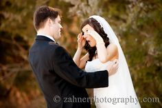 Chaumette Weddings - Can't let the tears get in the way of that gorgeous makeup. Cute wedding photo