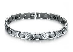 Acier Inoxydable Hommes Bracelet Chaîne de Vélo Motard Bijoux Armkette argent or 21,5 cm