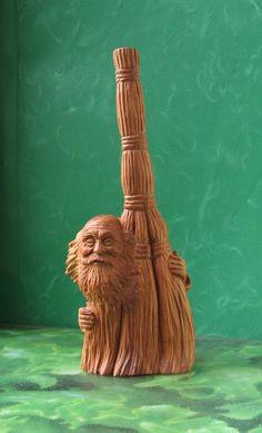 Brownie - Wooden statuary by Derevyashki on Etsy