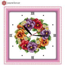 Amapola reloj de punto de Cruz, BRICOLAJE 100% hilo de Algodón impreso contado 11CT punto de cruz, regalo, decoración del bordado pintura foto(China (Mainland))