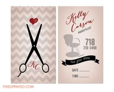 hairstylist business cards, vintage hairstylist business card