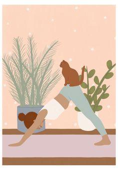 yoga illustration art wallpaper