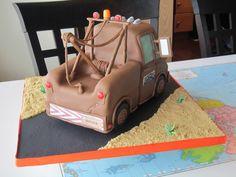 disney pixar cars birthday cake | Disney Pixar Cars Tow Mater Cake — Children's Birthday Cakes