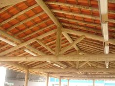 Bamboo House Design, Food Park, Bamboo Crafts, Post And Beam, Roof Design, Petra, Farmer, Sweet Home, Wooden Storage Sheds