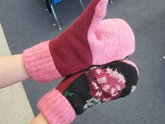 The DIY Sweater Mitten Making Mansion and Tutorial: A Blast From the Past: 2012   The Renegade Seamstress Renegade Seamstress, Work Boot Socks, Sweater Mittens, Knit Sneakers, Cool Sweaters, Some Pictures, Refashion, Fingerless Gloves, Arm Warmers