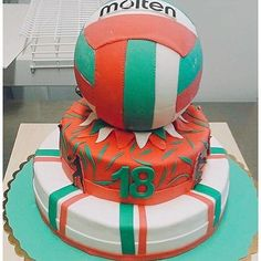 Amazing Volley Cake realized by Italian 😍😍🇮🇹 Volleyball Birthday Cakes, Volleyball Party, Volleyball Outfits, Play Volleyball, Volleyball Quotes, Volleyball Gifts, Coaching Volleyball, Girls Basketball, Deserts