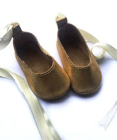 This Gold Snake Ballet Leather Bootie is perfect! #zulilyfinds