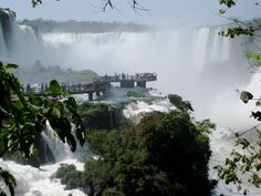 Iguazu Falls, Brazil - The park shares with Iguazú National Park in Argentina one of the world's largest and most impressive waterfalls, extending over some 2,700 m. It is home to many rare and endangered species of flora and fauna, among them the giant otter and the giant anteater. Photo credit: Keith Jenkins http://velvetescape.com/blog/