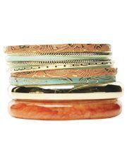 10 Piece Boho Bangle Set from Wet Seal