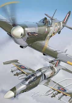 Military Weapons, Military Art, Military Aircraft, Pilot, Military Drawings, Aircraft Painting, Supermarine Spitfire, Ww2 Planes, Aviation Art