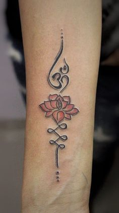 Image result for unalome lotus flower tattoo