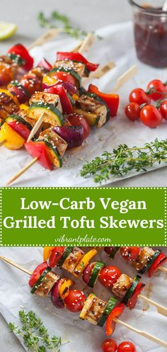 These Vegan Grilled Tofu Skewers are a real breeze to make, ready in just a couple of minutes. These Vegan Grilled Tofu Skewers are a real breeze to make, ready in just a couple of minutes. Vegan Bbq Recipes, Delicious Vegan Recipes, Vegan Dinners, Grilling Recipes, Grilled Tofu Recipes, Barbecue Recipes, Barbecue Sauce, Vegetarian Grilling, Vegetarian Appetizers
