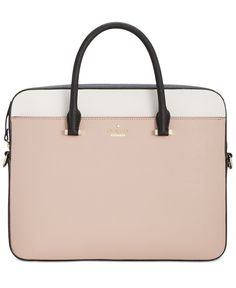 Take Your Tech To Stylish New Heights With Kate Spade York S Ultra Sleek Chic Saffiano Leather Laptop Bag