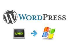 Migrating Wordpress From Unix\Linux to Windows Server 2008