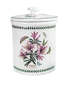 Botanic Garden Bread Crock, Lily Flowered Azalea.  This is a very large, gorgeous piece!