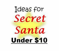 Christmas gift exchange ideas under $10